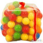 Műanyag 100 Darabos Labda Zárható Hálóban (Mochtoys, 10886)