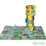 Molto: Városi Játszószőnyeg Közlekedési Táblákkal És Autóval 62X62Cm (Molto, 13663M)