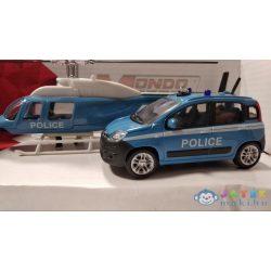 Rendőrségi Fiat Panda És Helikopter Fém Modell Szett 1/43 - Mondo (Mondo Toys, 57004/rendőr)