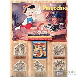 Pinokkió 5Db-os Nyomdaszett Színes Ceruzákkal (Multiprint, 53502)