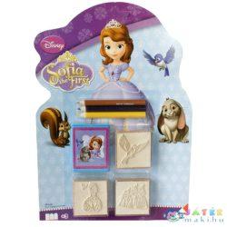 Szófia Hercegnő Nyomdaszett 3Db-os Színes Ceruzával (Multiprint, 118829)