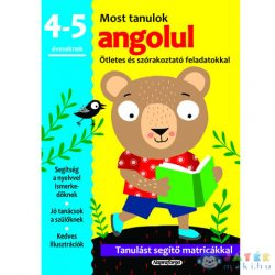 Most Tanulok... Angolul 4-5 Éveseknek Készségfejlesztő Matricás Füzet (Napraforgó, 458609)