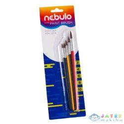 Nebulo: Ecset Festett Fanyelű 5Db-os Szett (2-4-6-8-10) (Nebulo, HEK-F-5)