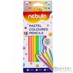Nebulo: Pasztell Színű Színes Ceruza Készlet 12Db-os Szett (Nebulo, NSZC-H-12-PSZ)