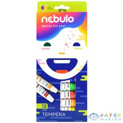 Nebulo: Színes Tempera Készlet 12Ml 12Db (Nebulo, NTF-12-12)