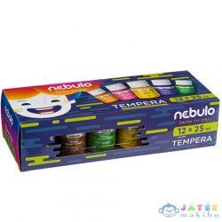 Nebulo: Színes Tempera Készlet 25Ml-Es Tégelyben 12Db-os Szett (Nebulo, NTF-25-12)