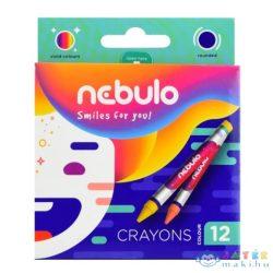Nebulo: Színes Zsírkréta Szett 12Db-os (Nebulo, NZSK-12)