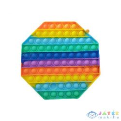 Pop It: Óriás Szivárvány Stresszoldó Játék - Nyolcszög (Peaktoys, POP0802)