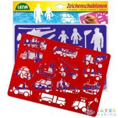 Lena: 2 Db-os Rajzolósablon - Közlekedési Eszközök (Peppino-Impex, 65773)