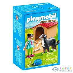 Kislány Kutyával És Kutyaházzal - 70136 (Playmobil, 70136)