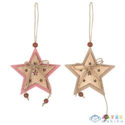 Karácsonyi Fa Csillag Dekoráció, 7 Cm -2 Színben (Plus, 4764)