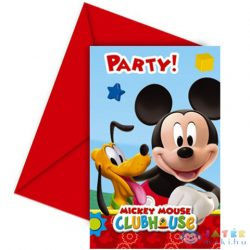 Mickey Club House Meghívó És Boríték 6 Db (Procos, 81513)