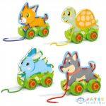Quercetti: Montessori Fűzős Játék Állatok 4Db-os Szett (Quercetti, 10612)