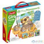 Quercetti: Montessori Giro 4Db-os Állatos Puzzle Szett (Quercetti, 10611)