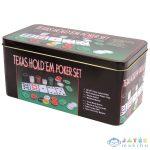 Texas Hold'Em Póker Készlet - 200 Zseton (Régió, 15696)