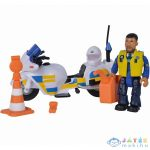 Sam, A Tűzoltó: Rendőrségi Motor Malcolm Figurával (Simba, 109251092038)
