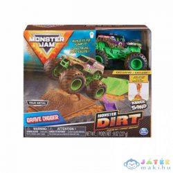 Monster Jam: Grave Digger Kezdőszett Kinetikus Homokkal (Spin Master, 6045198)