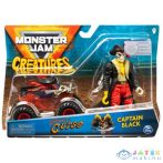 Monster Jam: Pirates Curse Kisautó Captain Black Figurával (Spin Master, 6055108)
