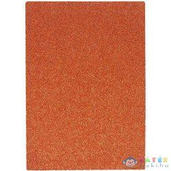 Spirit: Csillámos Dekorációs Habszivacs Lap Narancssárga Színben A/4 1Db (Spirit, 406857)