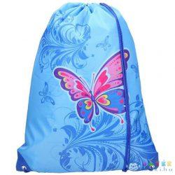 Spirit: Kék Színű Pillangó Mintás Tornazsák, Sportzsák 47X34Cm (Spirit, 406123)