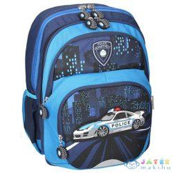 Spirit: Police Kék Színű Lekerekített Ergonómikus Iskolatáska (Spirit, 405806)