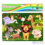 Spirit: Szafari Állatok Kreatív Műanyag Rajzsablon (Spirit, 408290)