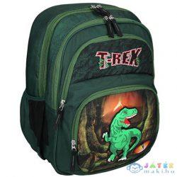 Spirit: T-Rex Dinoszauruszos Zöld Színű Ergonómikus Iskolatáska (Spirit, 407060)