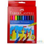 Faber-Castell Színes Filctoll Készlet - 12 Db (Stock, 554212)