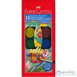 Faber-Castell Vízfesték Készlet Ecsettel - 12 Db-os (Stock, 125012)