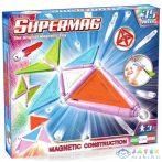Supermag: 35Db-os Pasztell Színű Mágneses Építőjáték Szett Panelekkel (Supermag, 154)