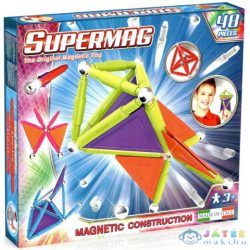 Supermag: 48Db-os Pasztell Színű Mágneses Építőjáték Szett Panelekkel (Supermag, 155)