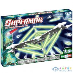 Supermag: Classic Glow 72 Db-os Mágneses Építőjáték (Supermag, 409)