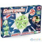 Supermag: Sötétben Világító 67Db-os Mágneses Építőjáték Szett Panelekkel (Supermag, 159)