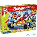 Supermag: Supermaxi Verseny Autó 76 Db-os Mágneses Játék (Supermag, 107)