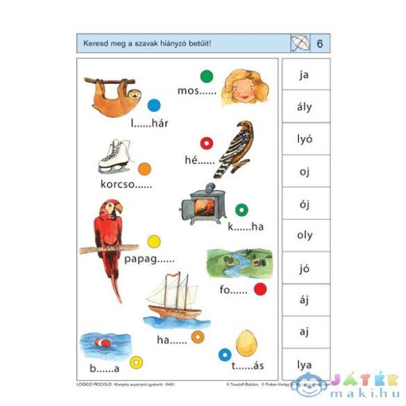 Logico Piccolo Feladatkártyák - Betűfogócska: Komplex Anyanyelvi Gyakorló (Tessloff és Babilon, 978-963-2941-24-0)