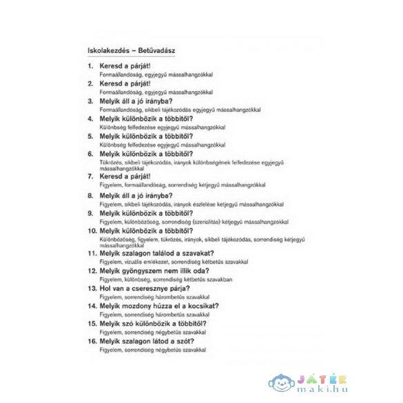 Logico Piccolo Feladatkártyák - Betűvadász (Tessloff-Babilon, 9789632941684)