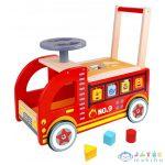 Fa Tűzoltóautó Bébitaxi Formabedobóval (Tooky Toy, TY063)