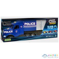 Wader: Magic Truck Sötétben Világító Rendőrkamion - 81 Cm (Trefl, 36200)