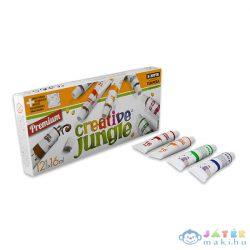Creative Jungle: 12 Darabos Tubusos Tempera Készlet Kifestővel - 12 X 16 Ml (Ügyv, CEA2039)