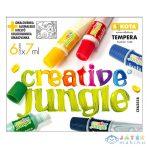 Creative Jungle: 6 Darabos Tubusos Tempera Készlet Kifestővel - 6 X 7 Ml (Ügyv, CEA2558)