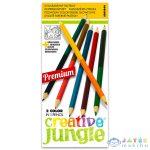 Creative Jungle 12 Darabos Dupla Színes Ceruza Készlet Kifestővel (Ügyv-Szerv, ABA1846)