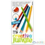 Creative Jungle 12 Darabos Háromszögletes Hajlékony Színes Ceruza (Ügyv-Szerv, ABA2036)