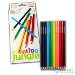 Creative Jungle 12 Darabos Színes Ceruza Készlet (Ügyv-Szerv, ABA0241)