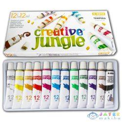 Creative Jungle 12 Darabos Tubusos Tempera Készlet Kifestővel (Ügyv-Szerv, CEA2704)