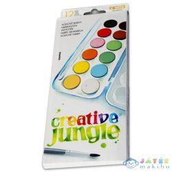 Creative Jungle 12 Színű Vízfesték Kifestővel (Ügyv-Szerv, CEA0946)