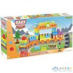 Baby Blocks Vasútépítő Szett 89Db-os Vasútépítő Szett (Wader, 41480)