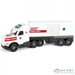 Magic Truck: Mentőkamion Fluoreszkáló Lámpákkal 81Cm - Wader (Wader, 36210)