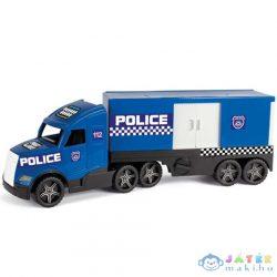 Magic Truck: Rendőrkamion Fluoreszkáló Lámpákkal 81Cm - Wader (Wader, 36200)