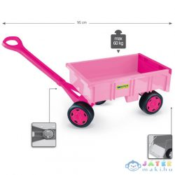 Rózsaszínű Kézikocsi Kislányoknak 60 Kg Teherbírással - Wader (Wader, 10958)