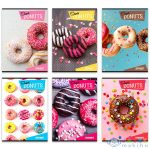 Street: Donuts Vonalas Füzet - A5, 31-32, Többféle (White Crystal, 65718A)